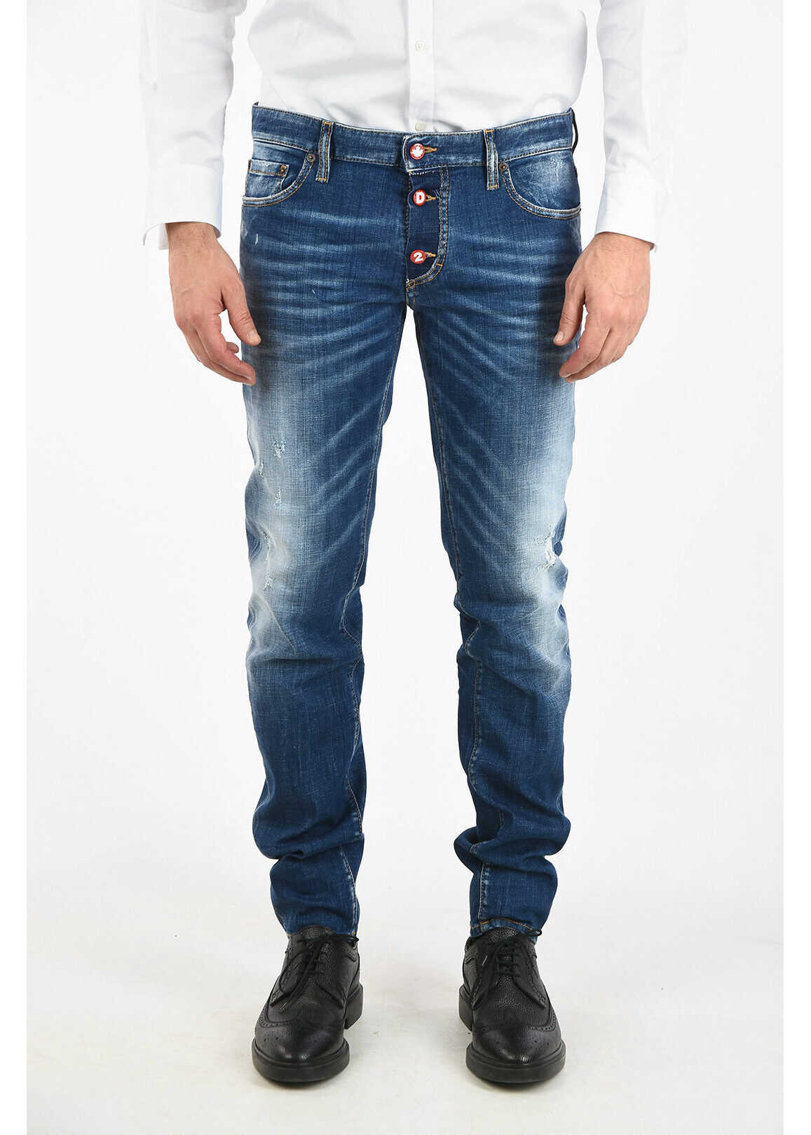 DSQUARED2 16cm Slim Fit Jeans BLUE imagine