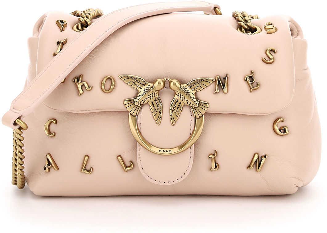 Pinko Pinkoness Calling Love Mini Puff Bag 1P2257 Y6YV ROSA POLVERE ROSA imagine b-mall.ro