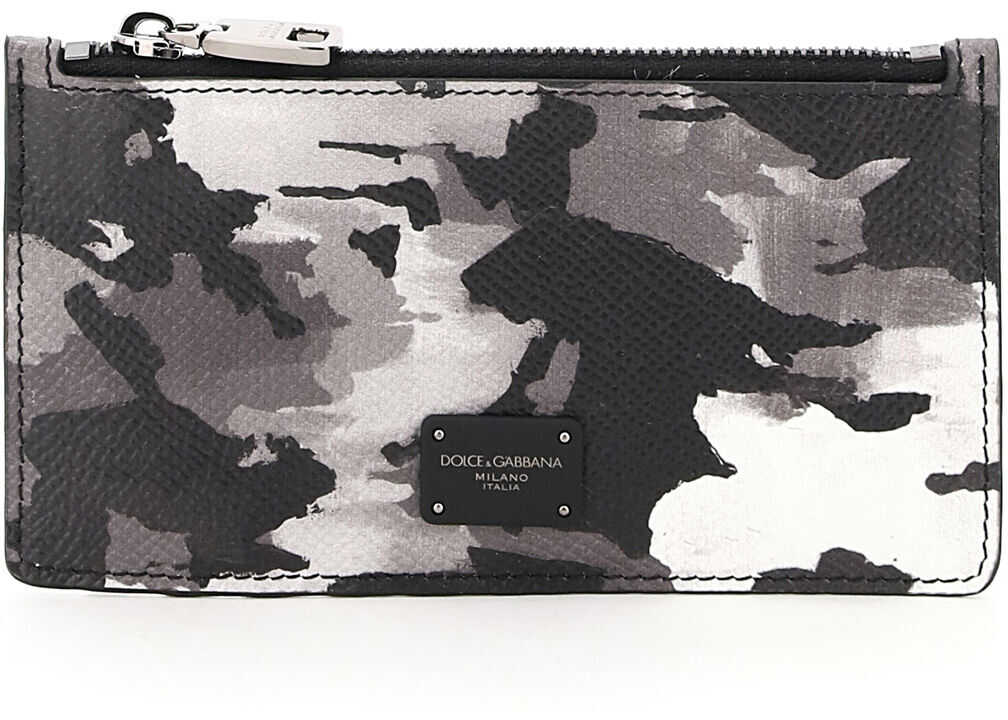 Zipped Camouflage Card Holder