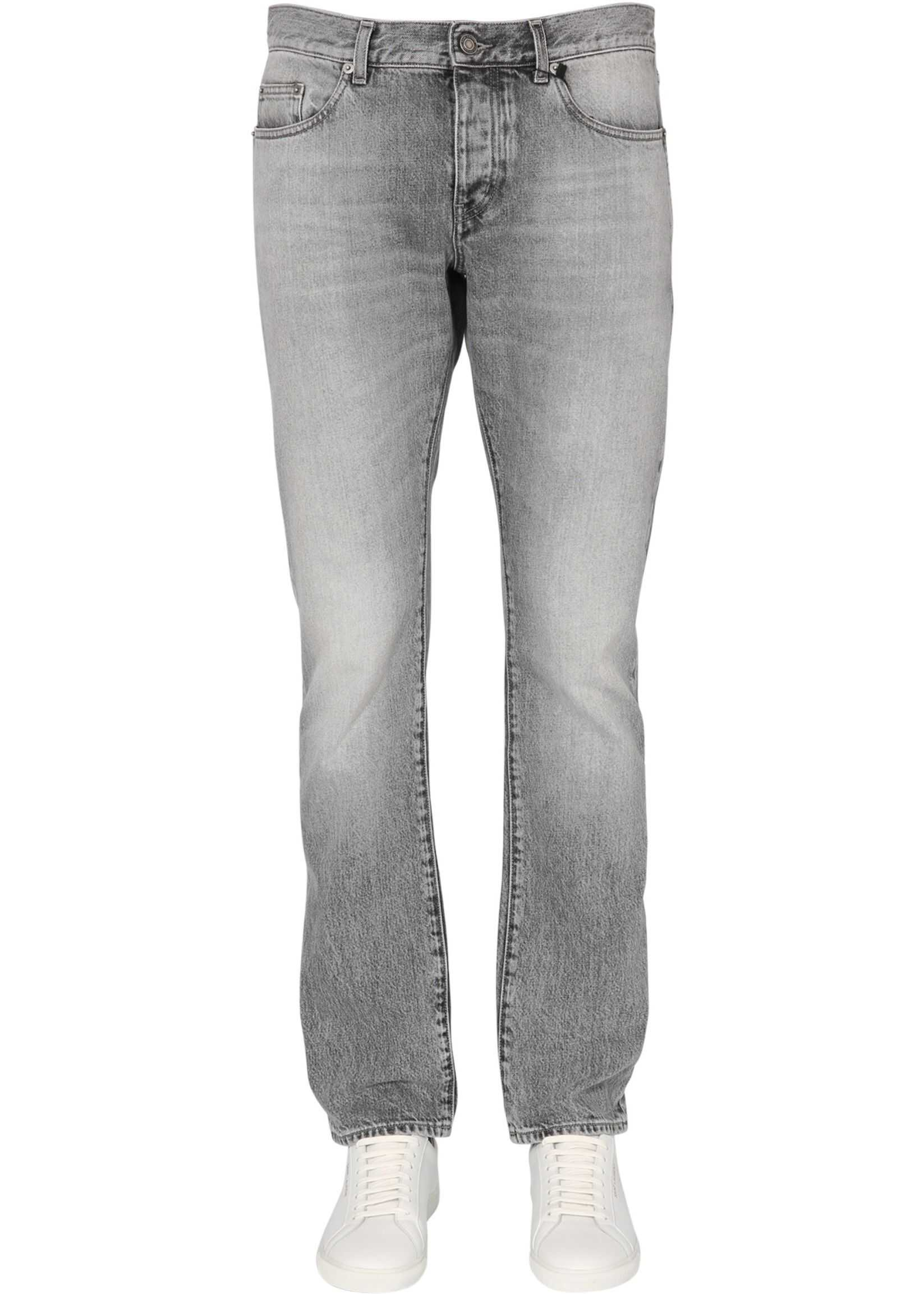 Saint Laurent Slim Fit Jeans GREY imagine