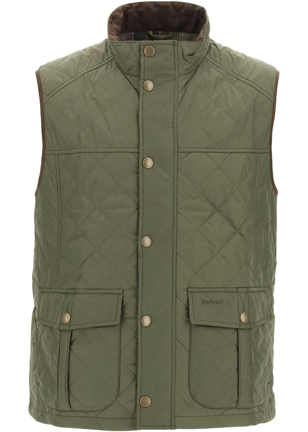 Barbour Explorer Vest MID OLIVE imagine