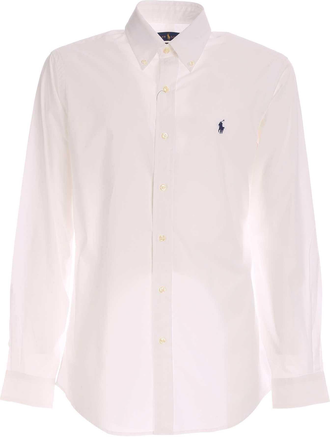 Ralph Lauren Classic Shirt In White White imagine