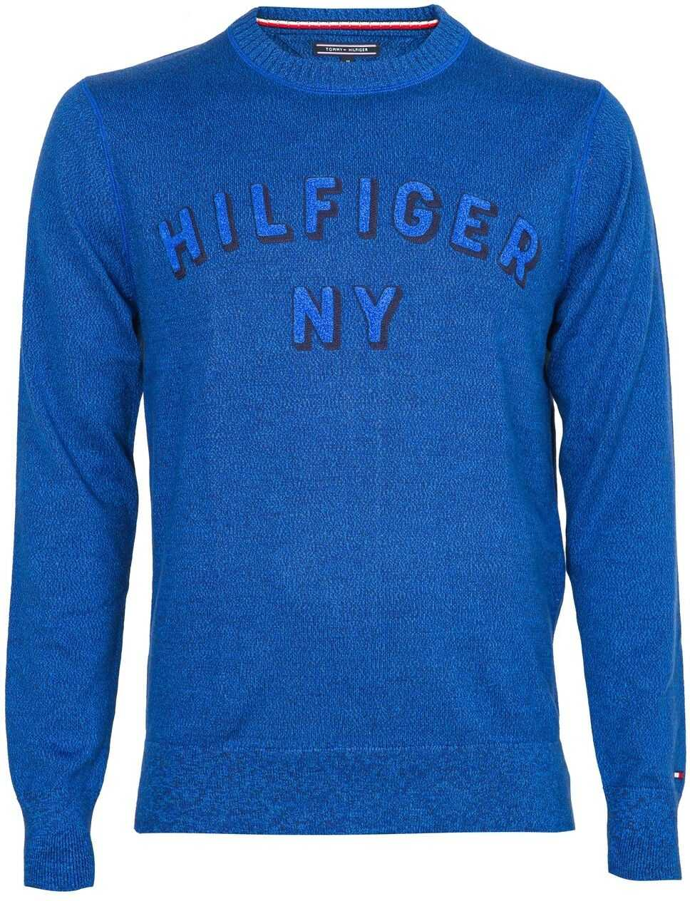 Tommy Hilfiger Structured Mouline MW0MW07139 Blue imagine