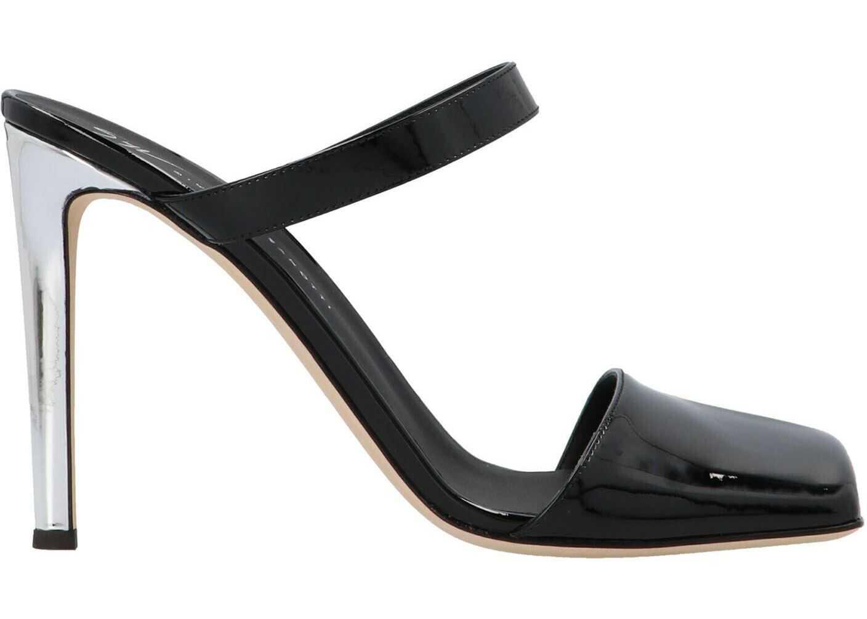 Giuseppe Zanotti Squared Toe Mules In Black I050003015015 Black imagine b-mall.ro