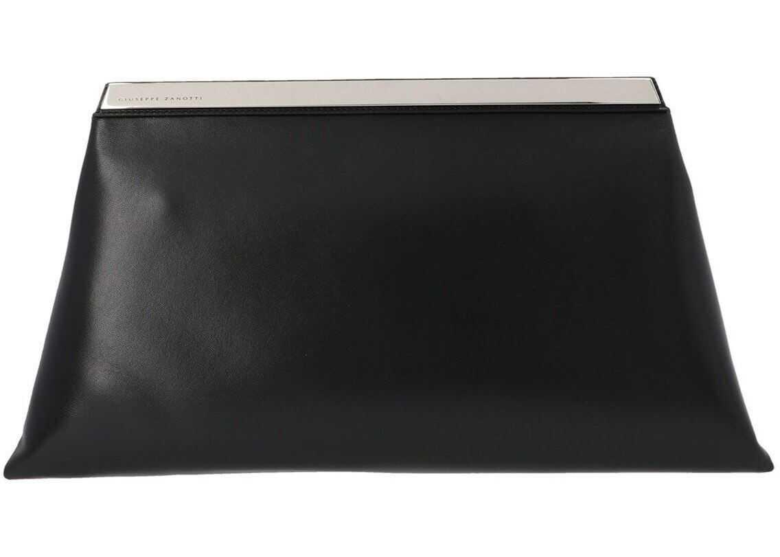 Giuseppe Zanotti Karen Clutch Bag In Black EB10000001 Black imagine b-mall.ro