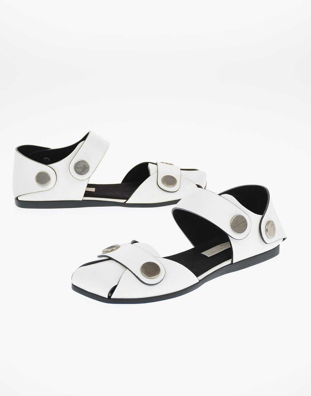 Stella McCartney Faux Leather COWPER Sandals WHITE imagine b-mall.ro