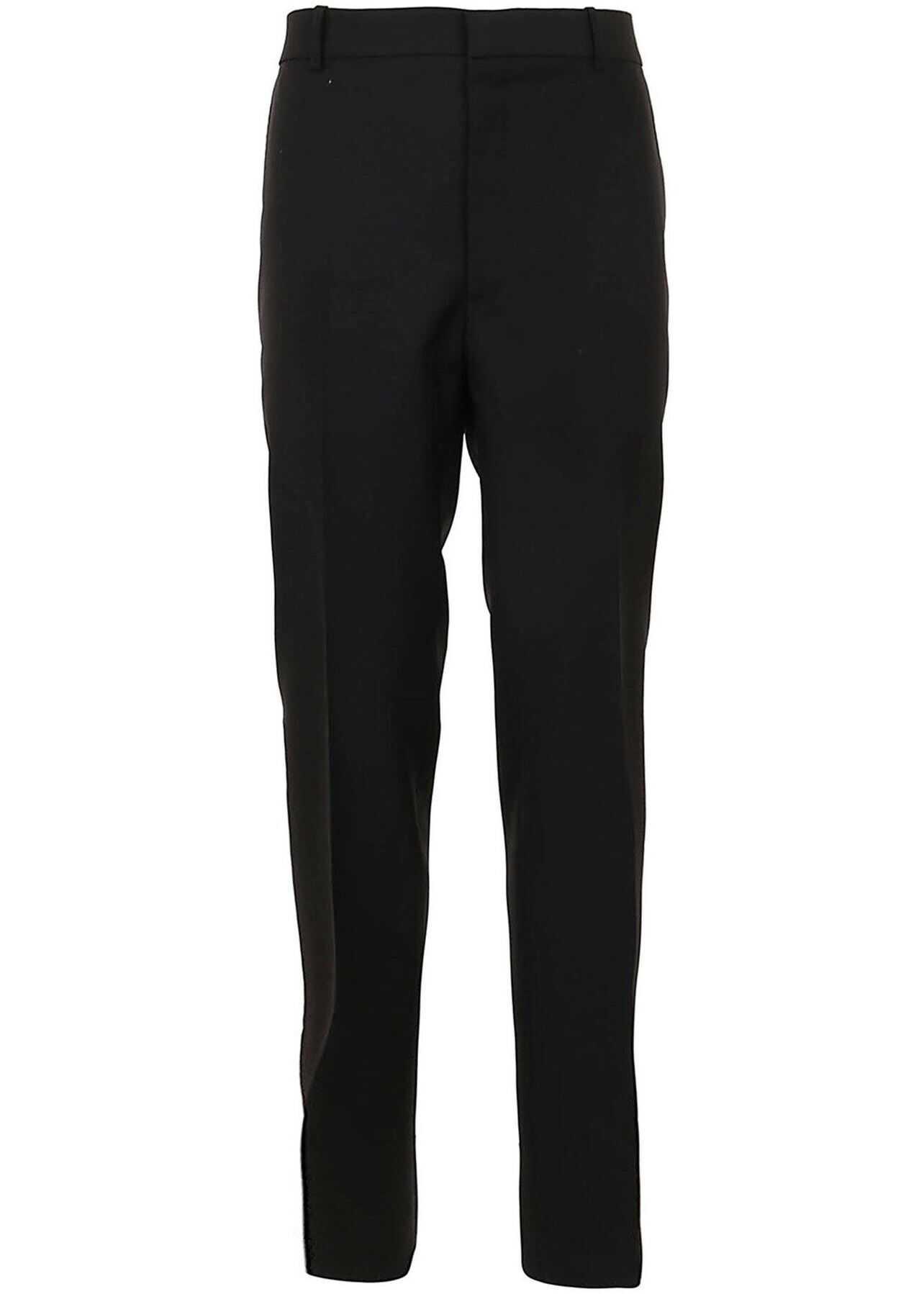 Alexander McQueen Wool-Mohair Blend Trousers In Black Black imagine