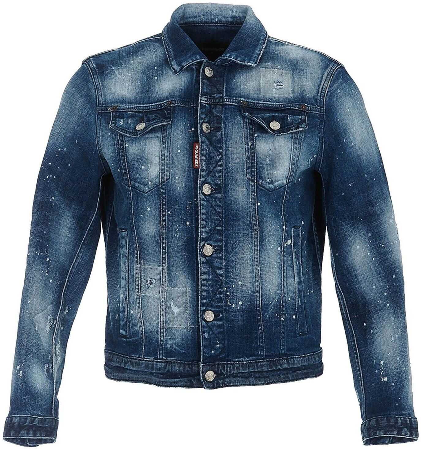 DSQUARED2 Dan Denim Jacketin Blue Blue imagine