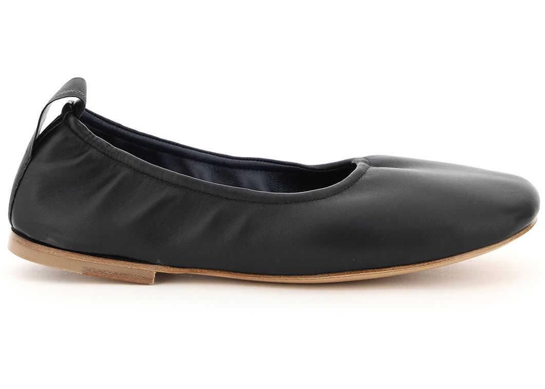 Lanvin Soft Nappa Ballet Flats FWBAFB0MNAPAP21 BLACK imagine b-mall.ro