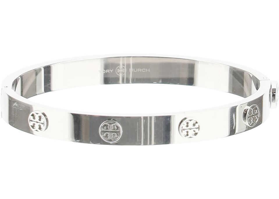 Tory Burch Logo Stud Hinge Bracelet TORY SILVER
