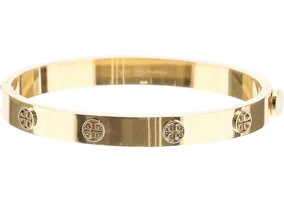 Tory Burch Logo Stud Hinge Bracelet TORY GOLD
