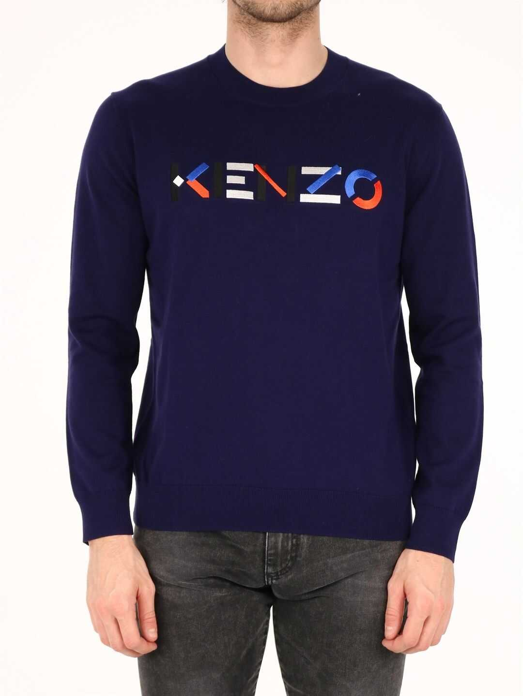 Kenzo Logo Jumper Blue imagine