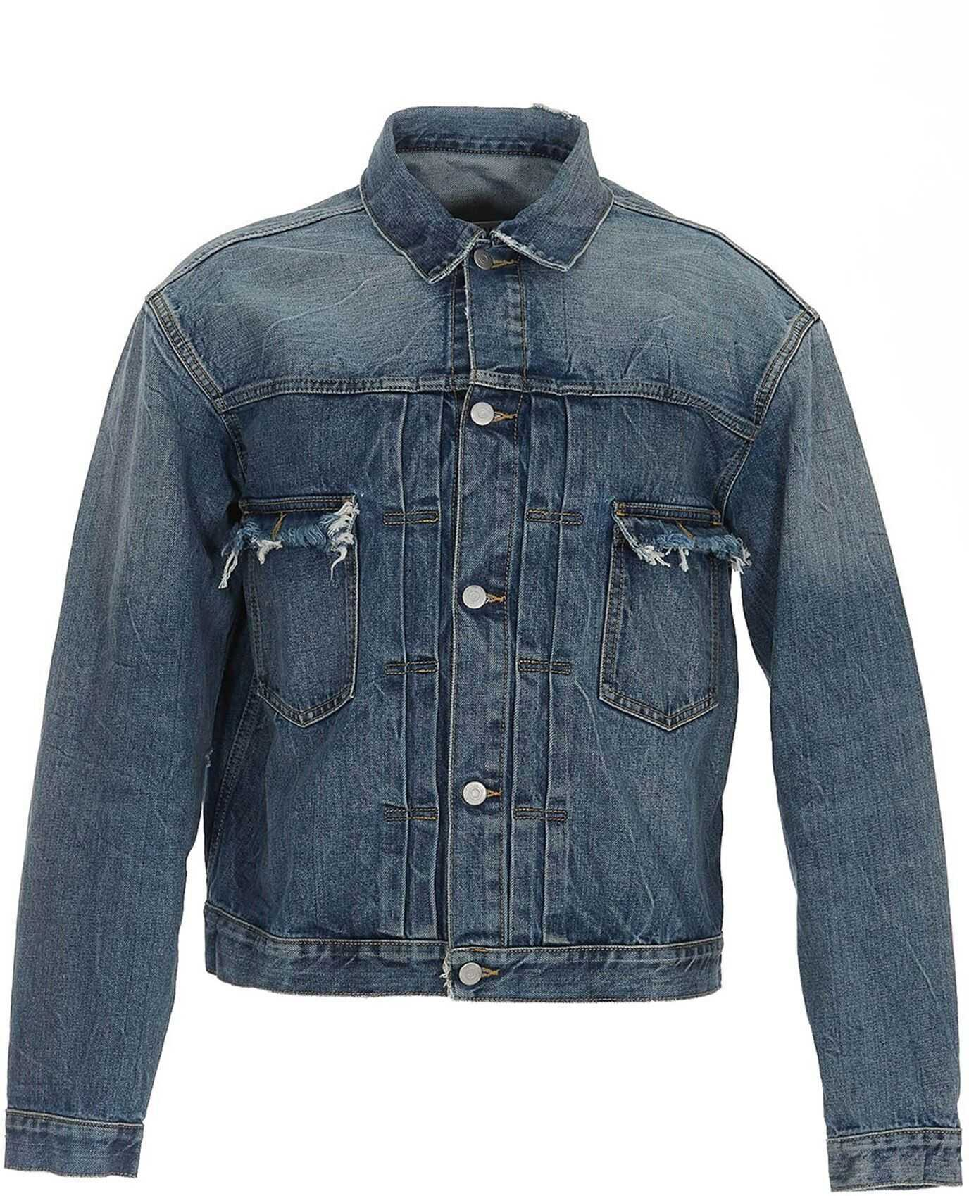 Maison Margiela Faded Denim Jacket In Blue Blue imagine