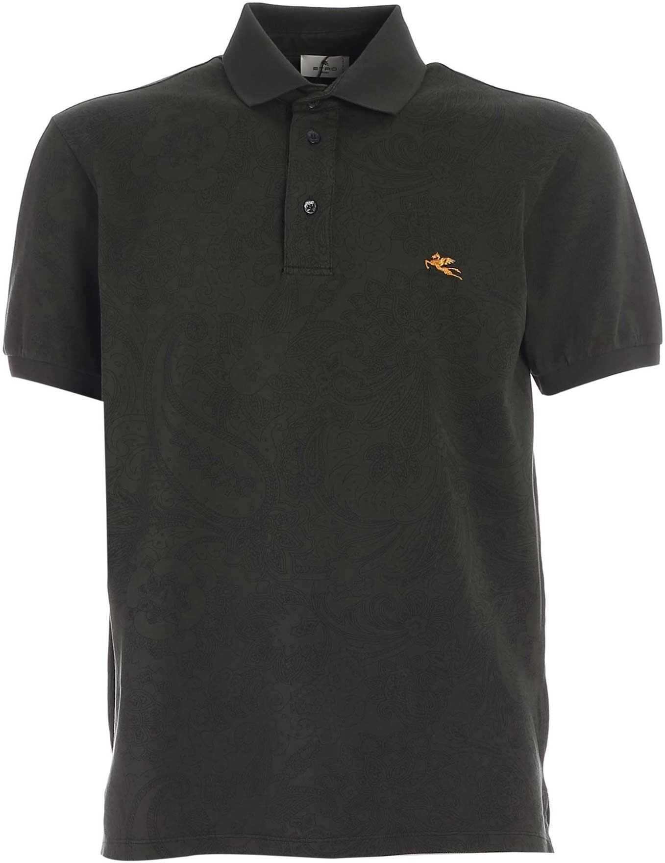 ETRO Floral Pattern Polo Shirt In Green Green imagine