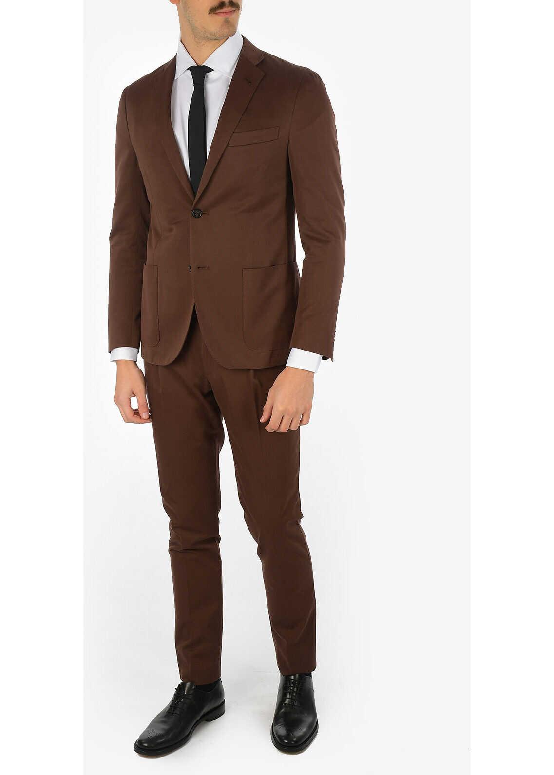 CORNELIANI GATE 2-button suit BROWN imagine