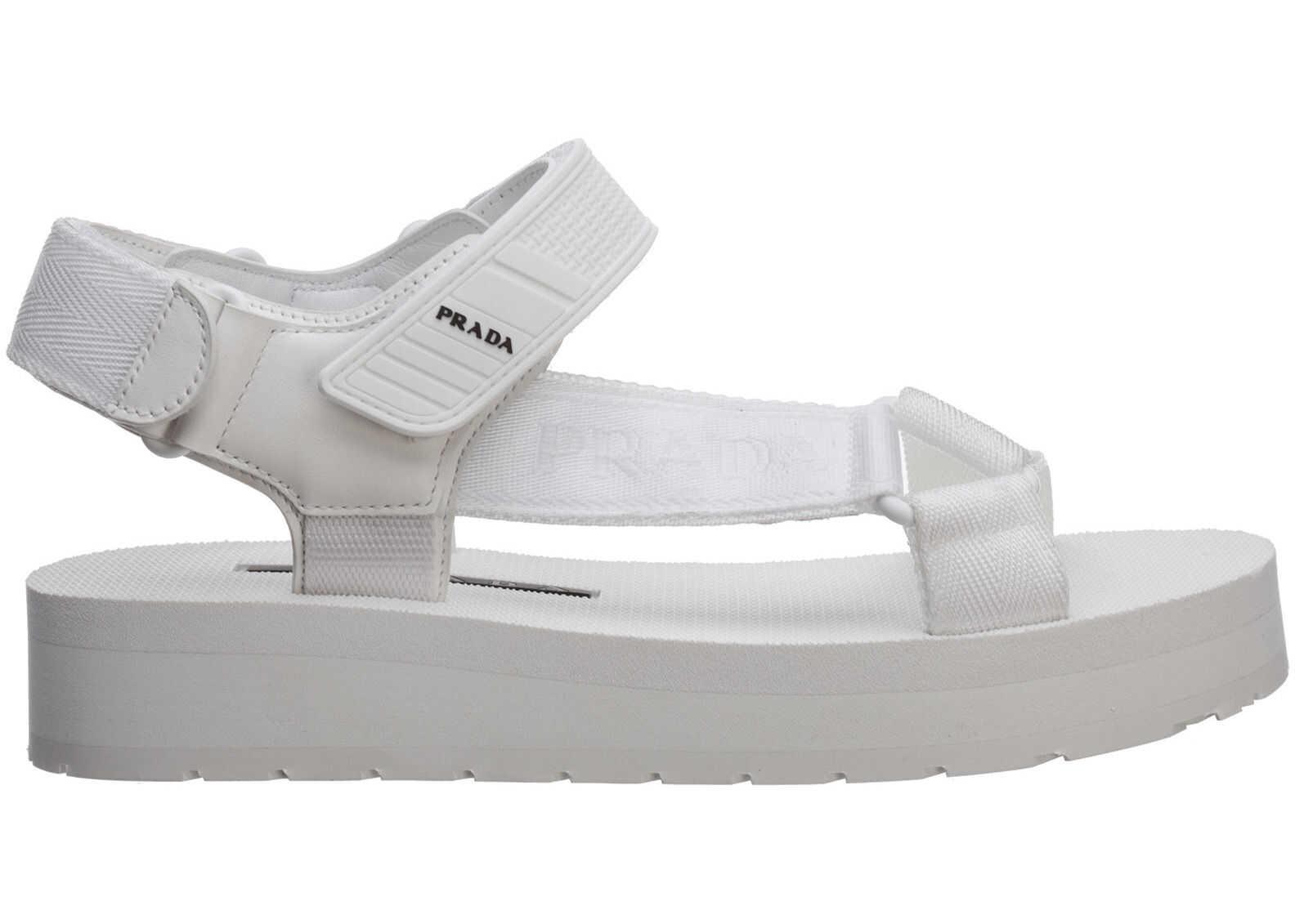 Prada Sandals 1X363L2OGDF0009 White imagine b-mall.ro