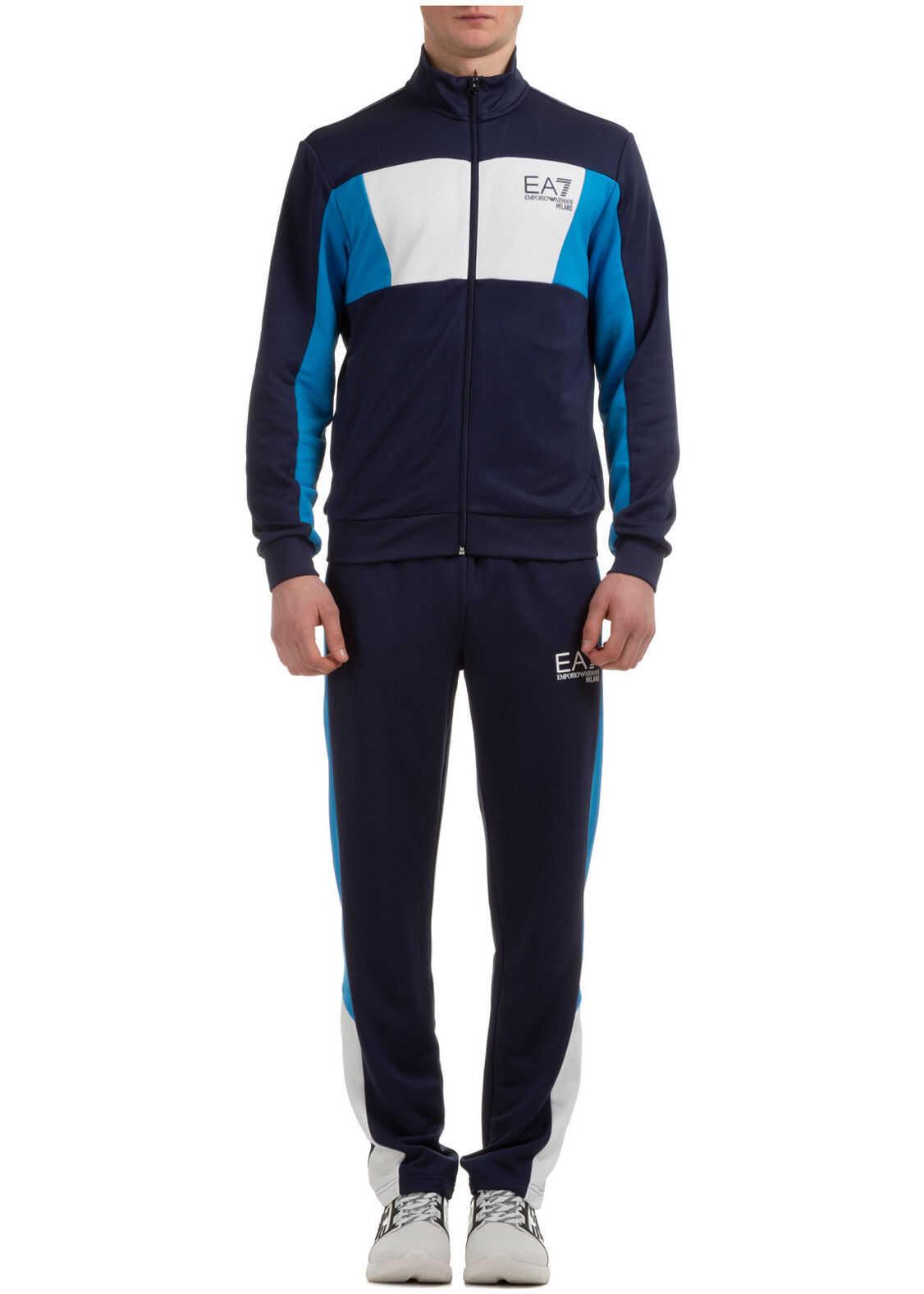 EA7 Sweatshirt Fashion Blue imagine