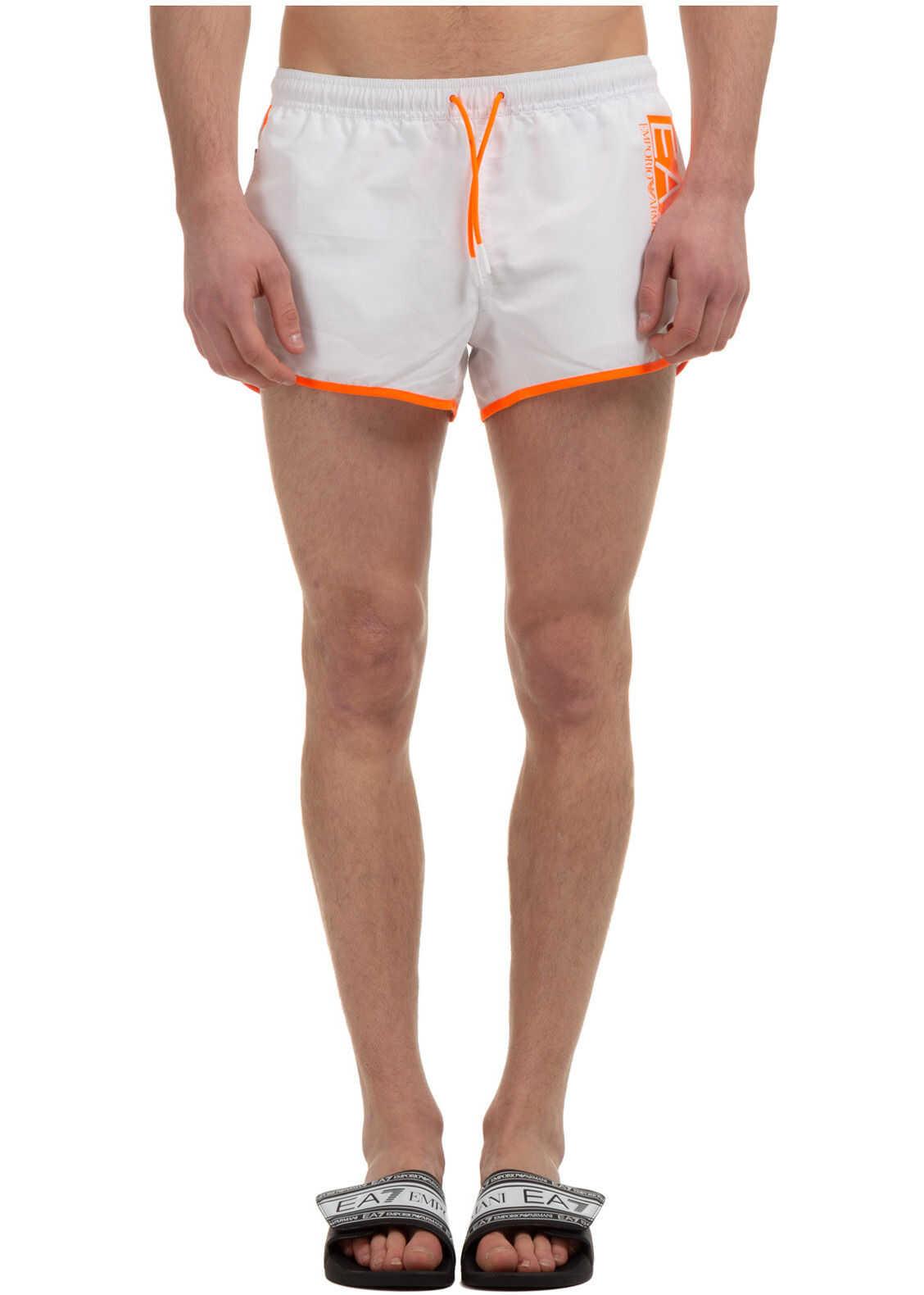 Emporio Armani Swimming Suit White imagine