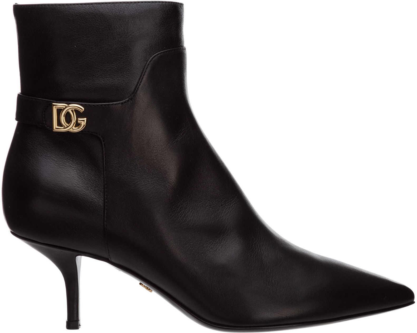 Dolce & Gabbana Boots Booties CT0700AW69580999 Black imagine b-mall.ro