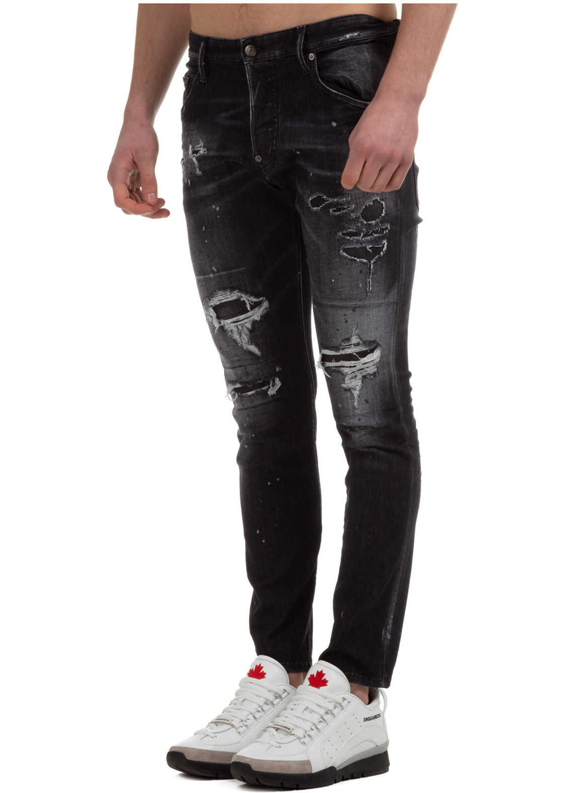 DSQUARED2 Denim Skater Black imagine