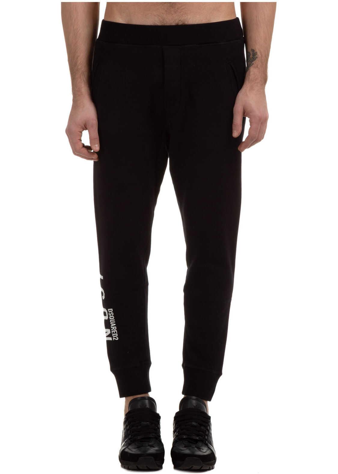 DSQUARED2 Trousers Icon Black imagine