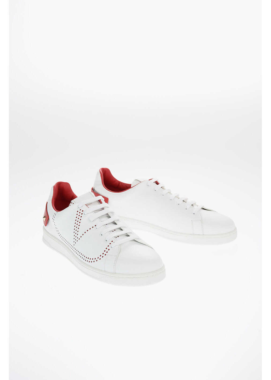 Valentino Garavani GARAVANI Leather BACKNET VLOGO Sneakers WHITE imagine b-mall.ro