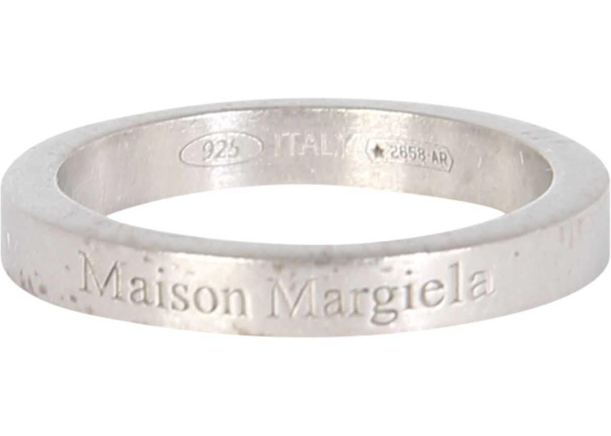 Maison Margiela Ring With Logo SILVER