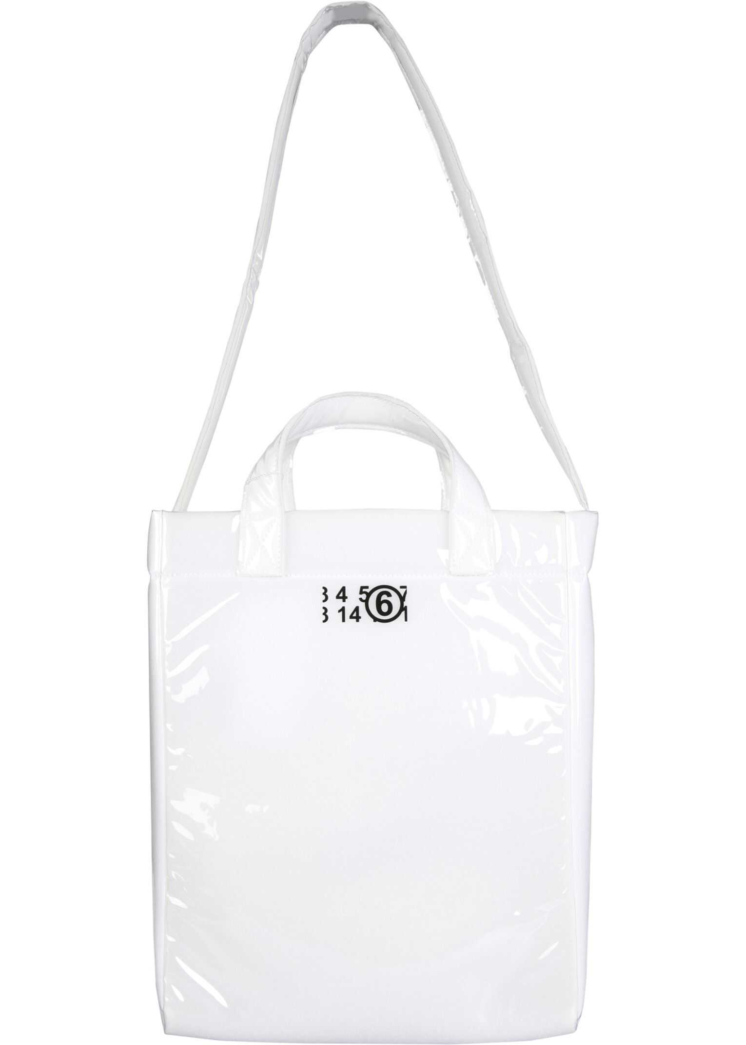 MM6 Maison Margiela Tote Bag With Logo S54WD0100_P2709H8481 WHITE imagine b-mall.ro
