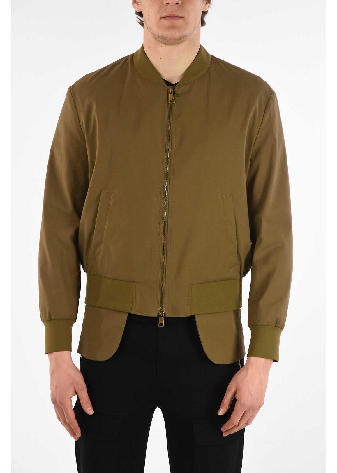 Neil Barrett Asymmetrical HYBRID Slim Fit Jacket BEIGE imagine