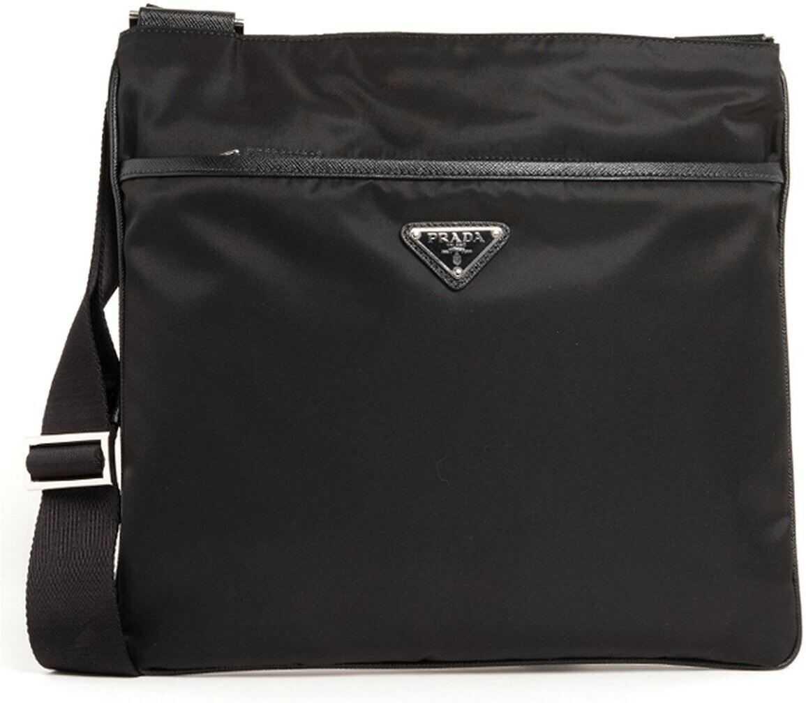 Prada Triangle Logo Crossbody Bag In Black 2VH053OOO064F0002 Black imagine b-mall.ro