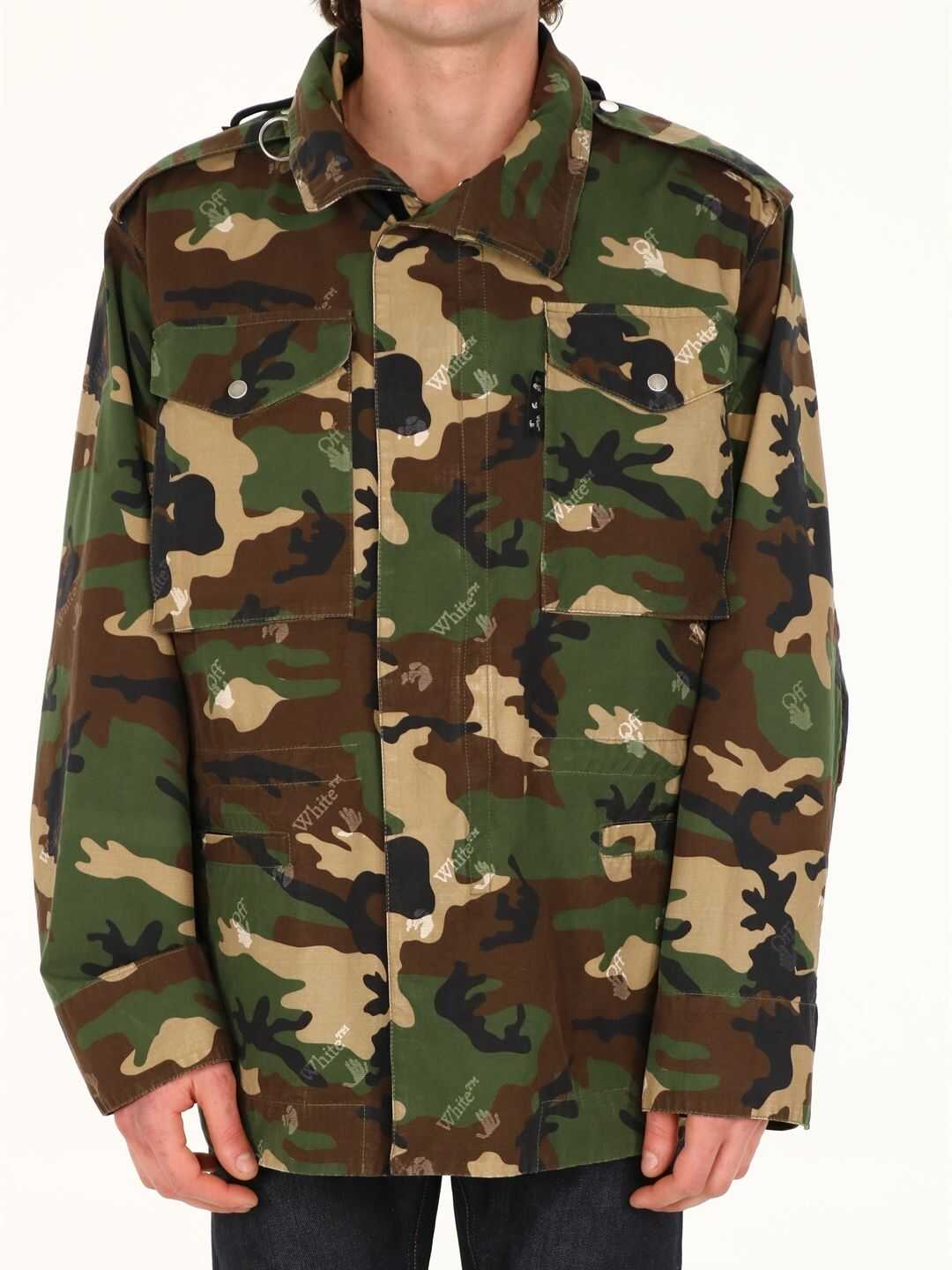 Off-White Camouflage Field Jacket Green imagine