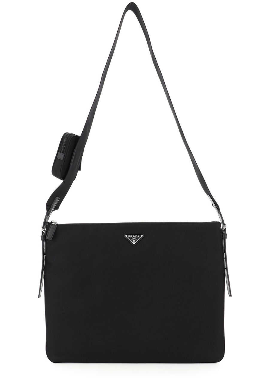 Prada Large Shoulder Bag With Pouch 2VH121 V OOO 064 NERO imagine b-mall.ro
