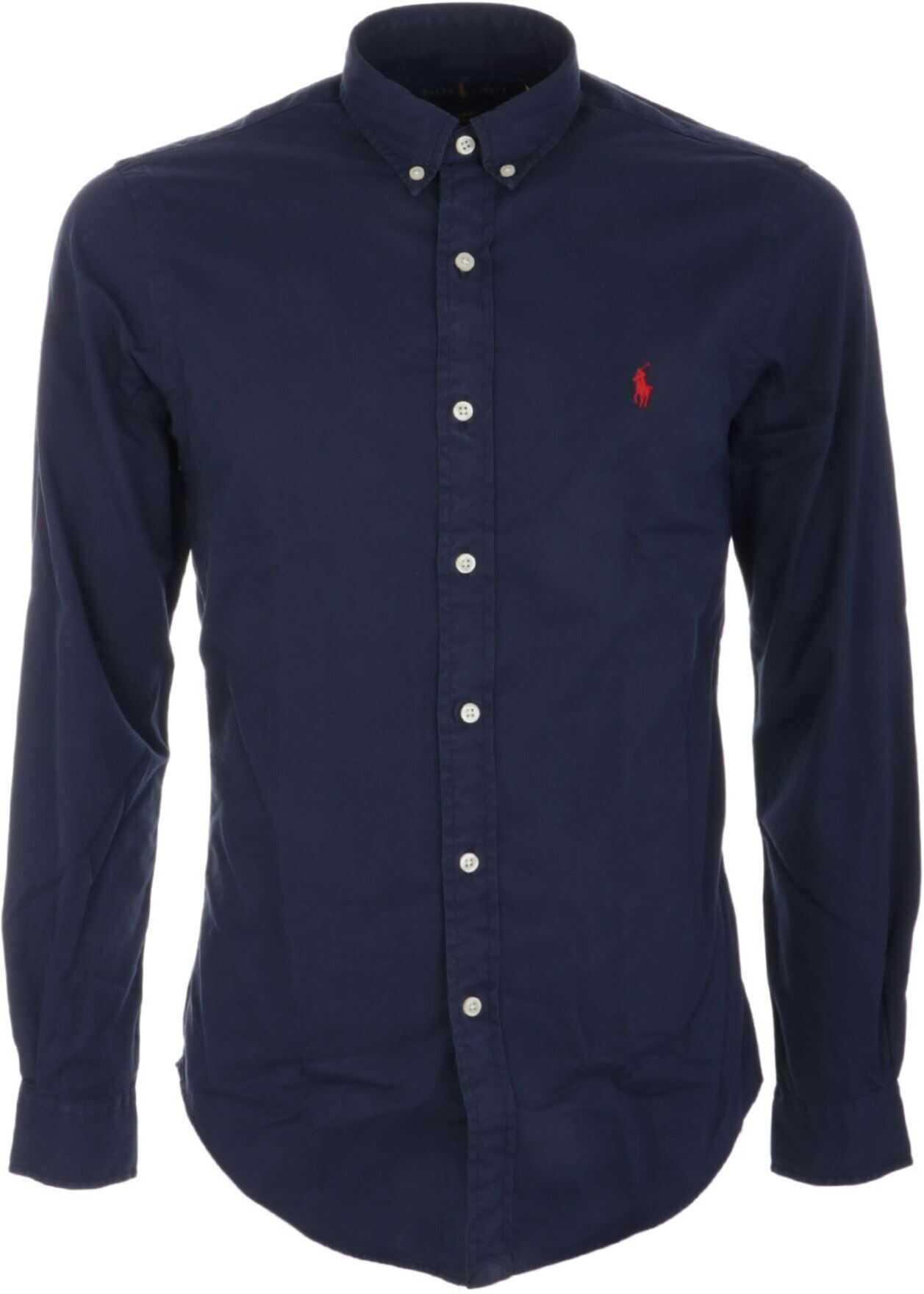Ralph Lauren Button Down Shirt In Blue Blue imagine