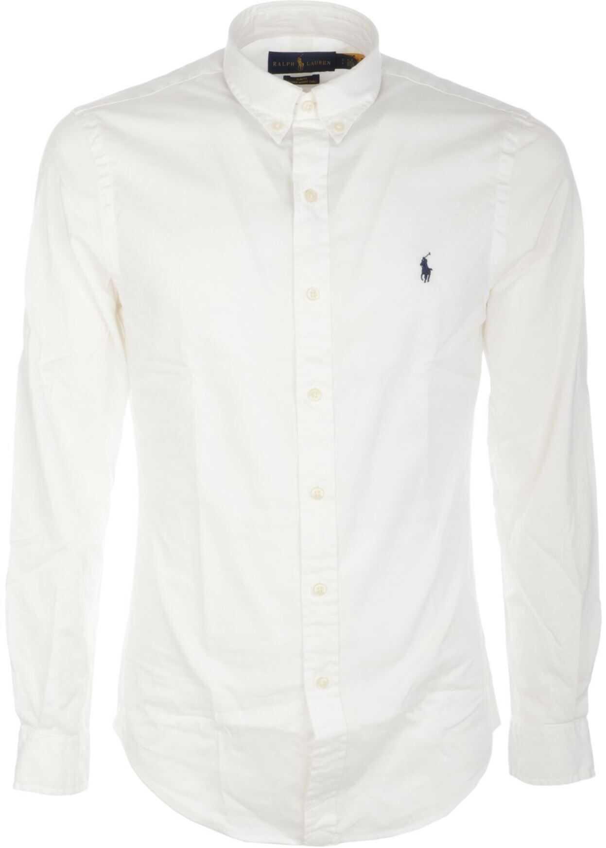 Ralph Lauren Button Down Shirt In White White imagine