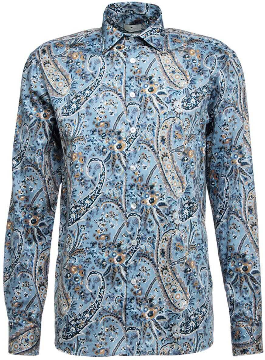 ETRO Paisley shirt Blue imagine