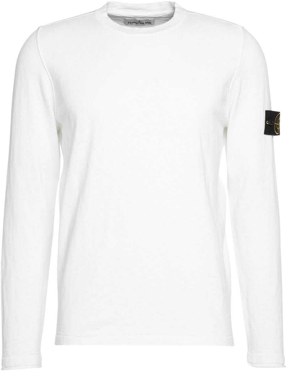 Stone Island Sweater in cotton blend White imagine