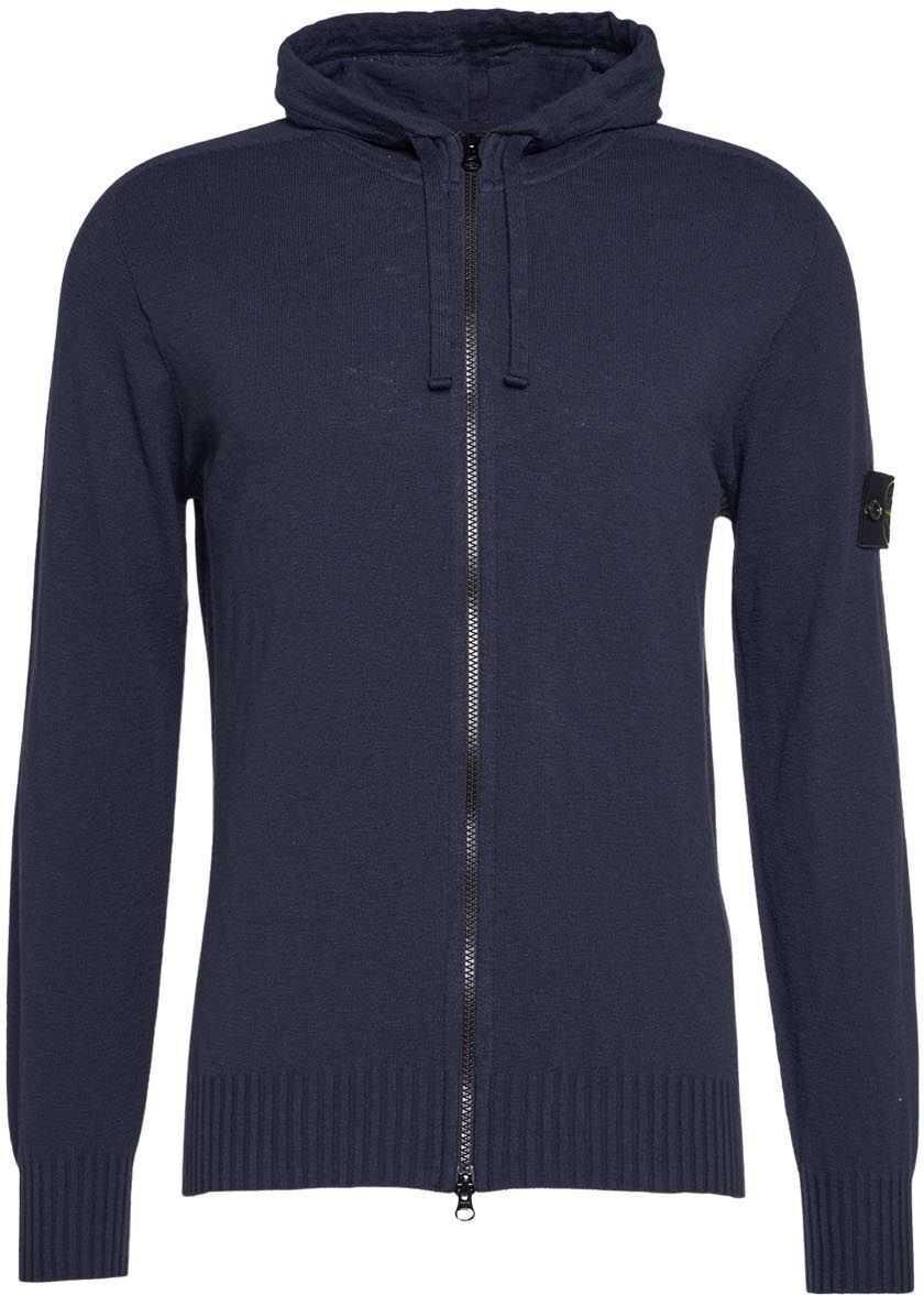 Stone Island Sweater with zip closure Blue imagine