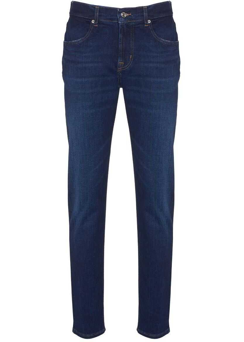 7 For All Mankind Slimmy Tapered Jeans Blue imagine