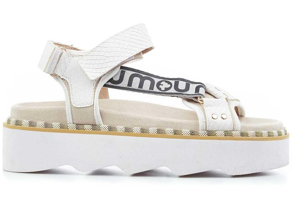 Mou Bio sandals with logo White imagine b-mall.ro