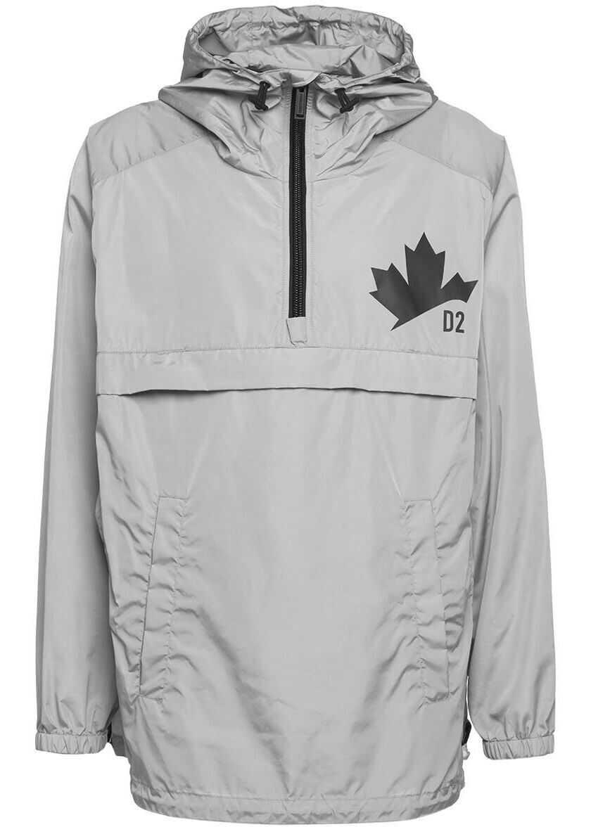 DSQUARED2 Jacket with logo details Grey imagine