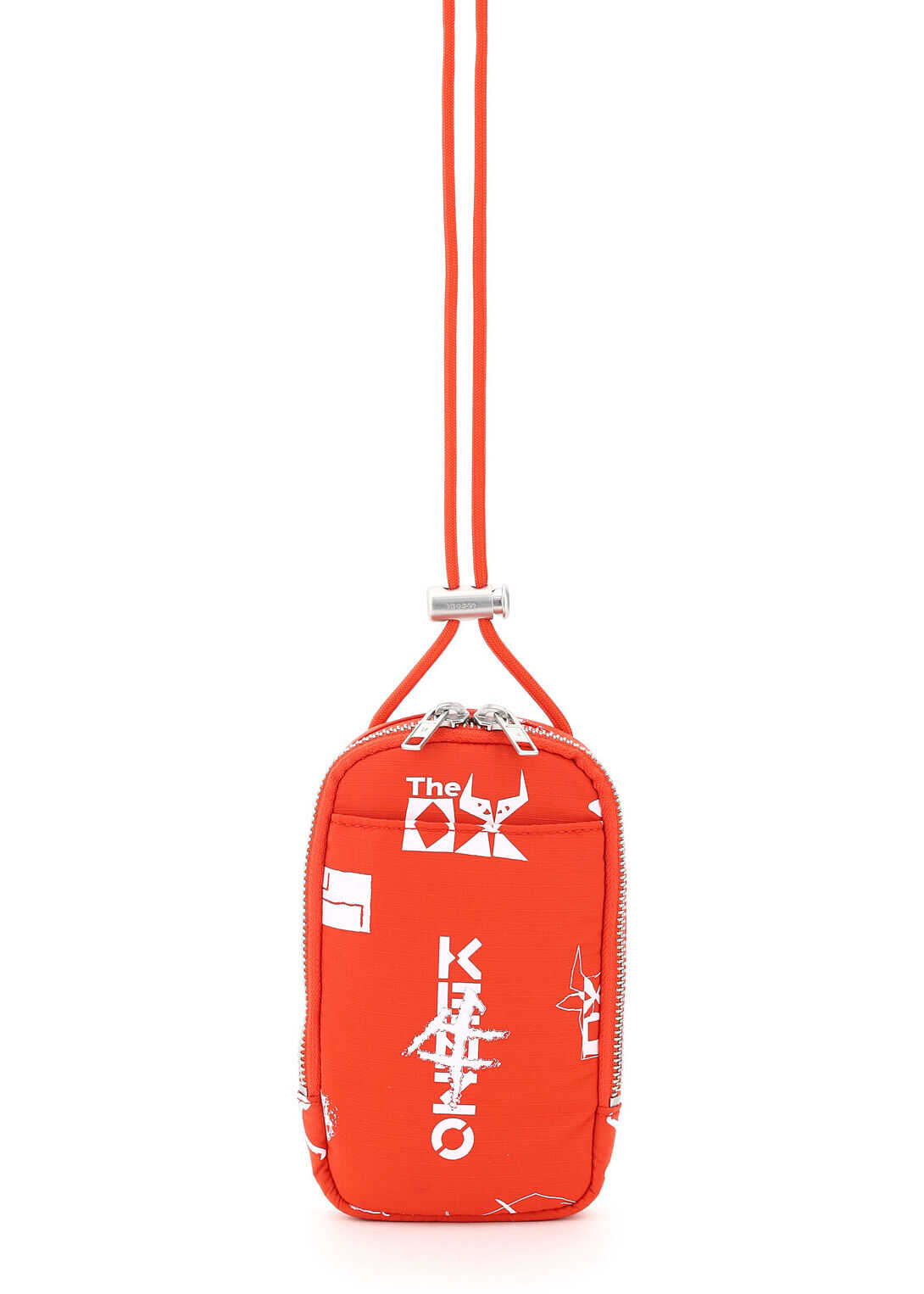 Kenzo Phone Holder With Sign & Symbol Sun Shoulder Strap FB55PM228FQ7 MEDIUM RED imagine b-mall.ro