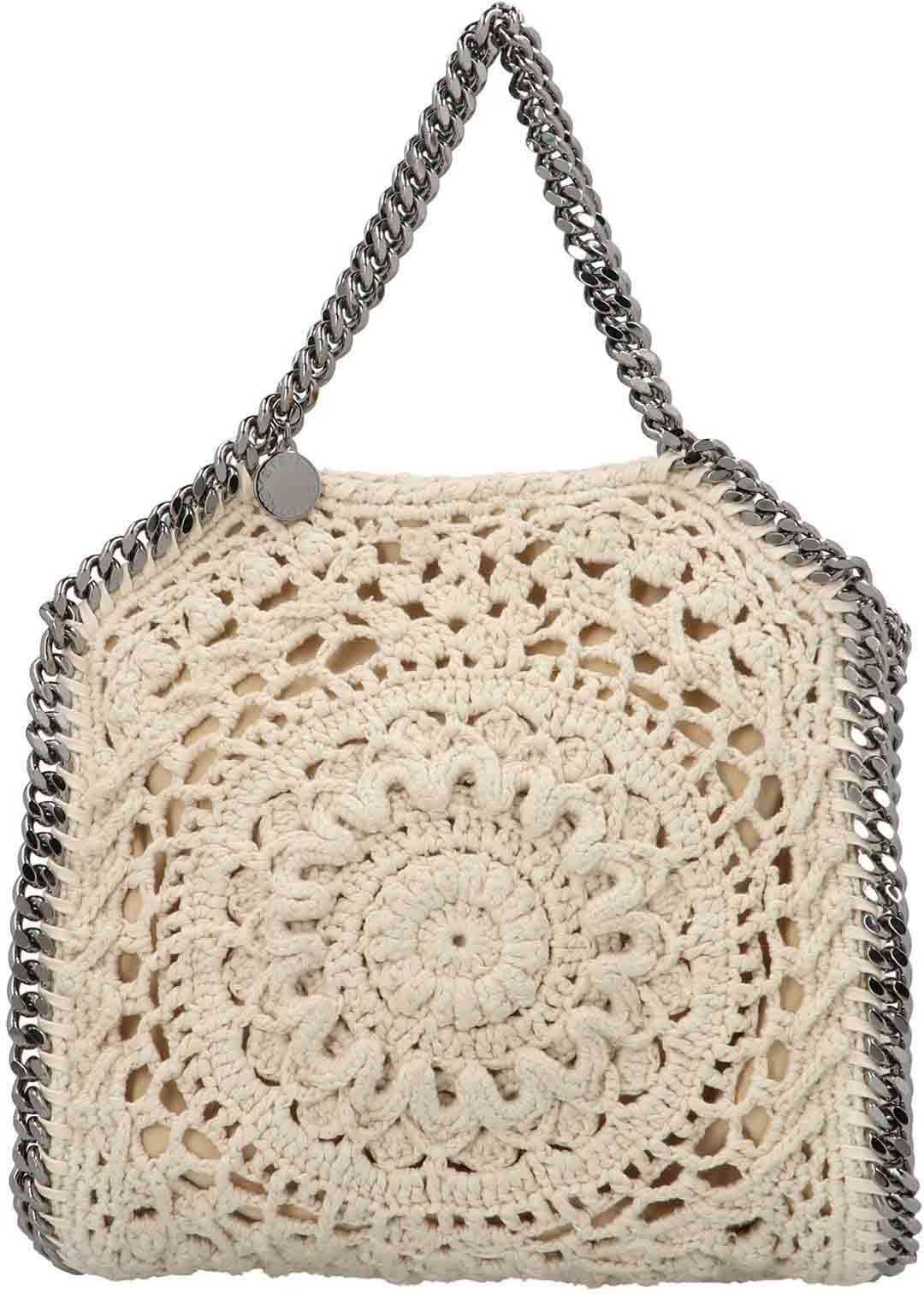Stella McCartney Falabella Crochet Bag In Ivory Color 371223W87879002 White imagine b-mall.ro