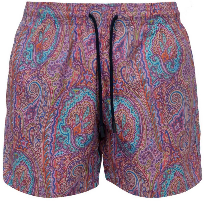 ETRO Paisley Print Swim Shorts In Purple Purple imagine
