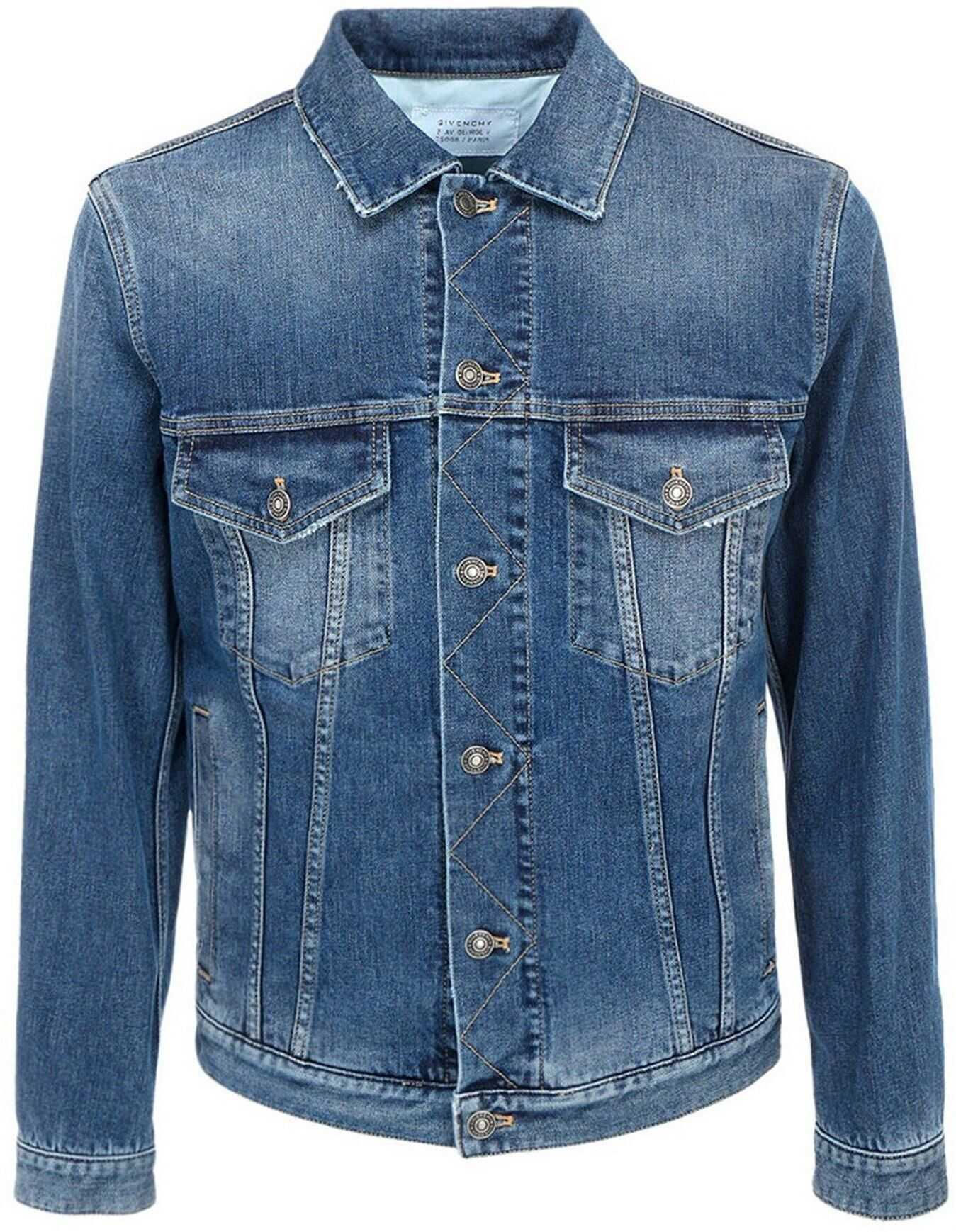 Givenchy Faded Denim Jacket In Blue Blue imagine