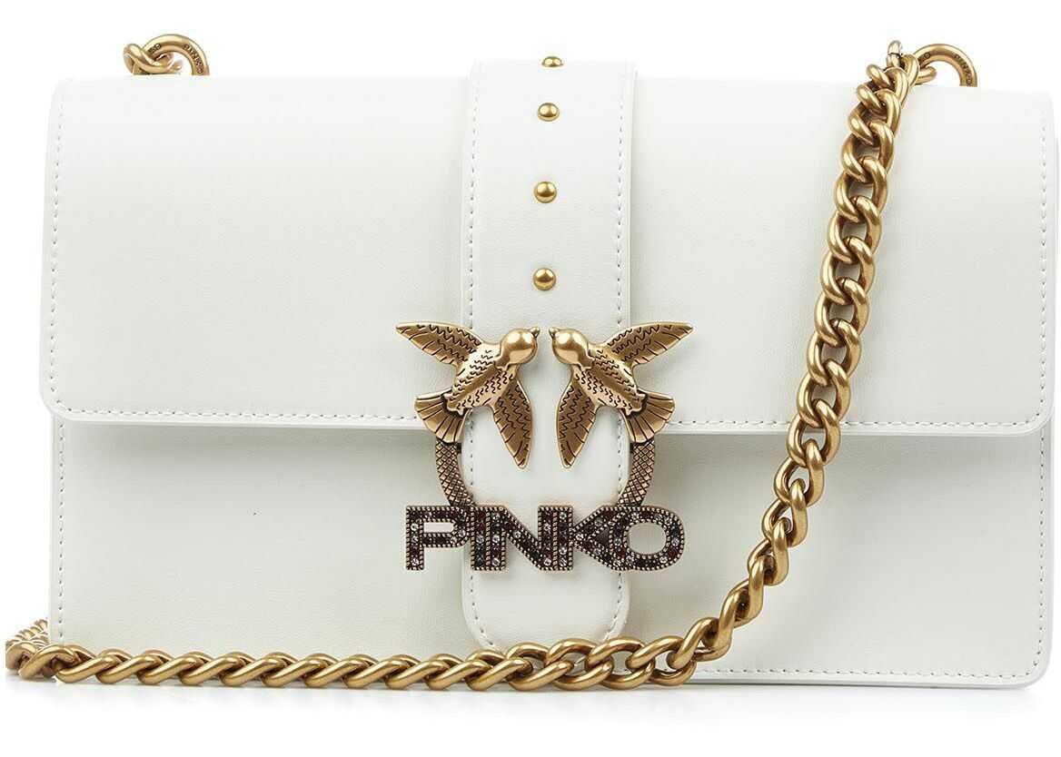 "Pinko Crossbody bag ""Love Classic Icon"" White imagine b-mall.ro"