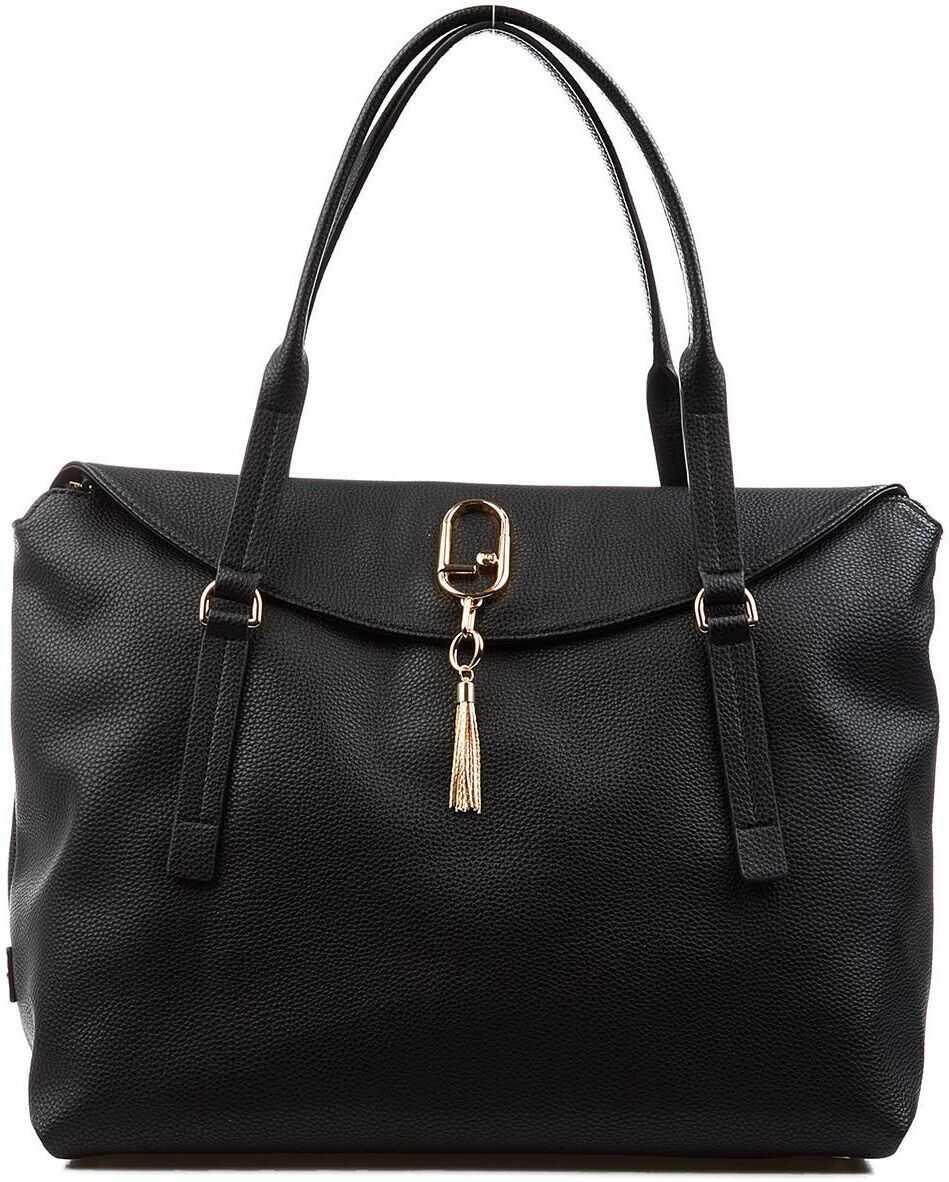 "Liu Jo Tote bag ""Graz"" with Logo Black imagine b-mall.ro"