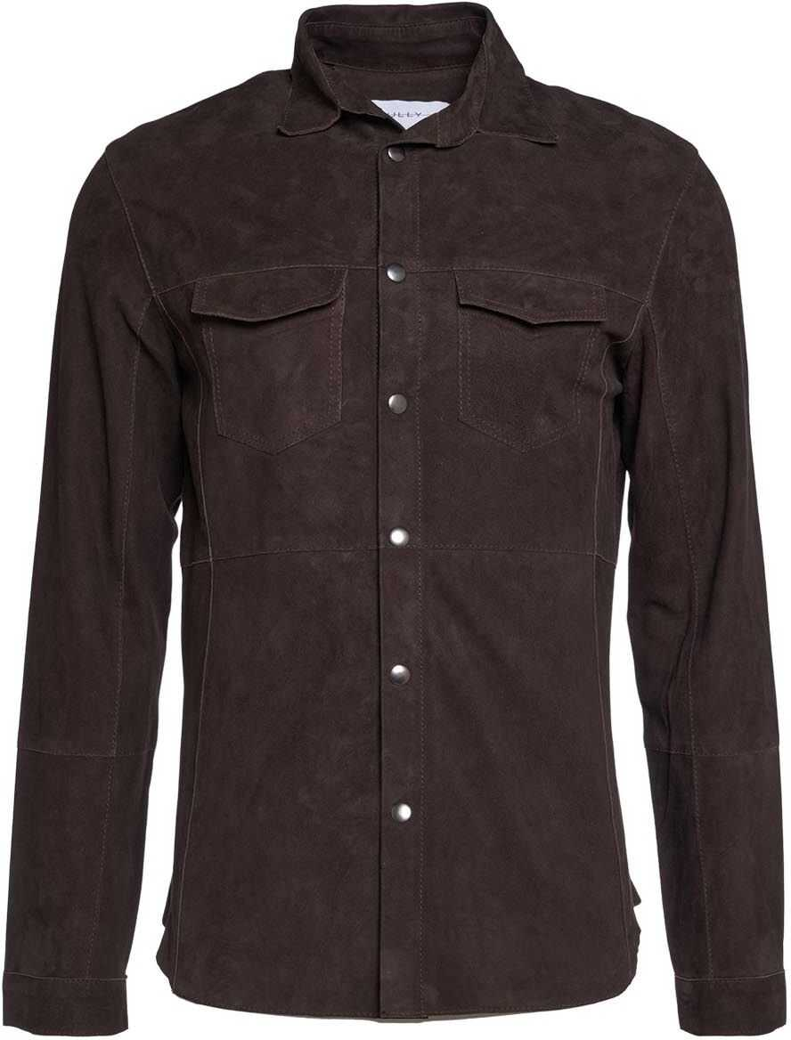 Bully Shirt in leather Brown imagine