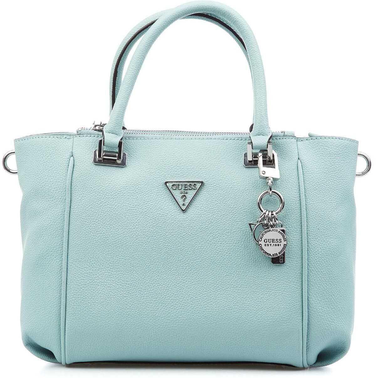 GUESS Handbag with logodetail Blue imagine b-mall.ro