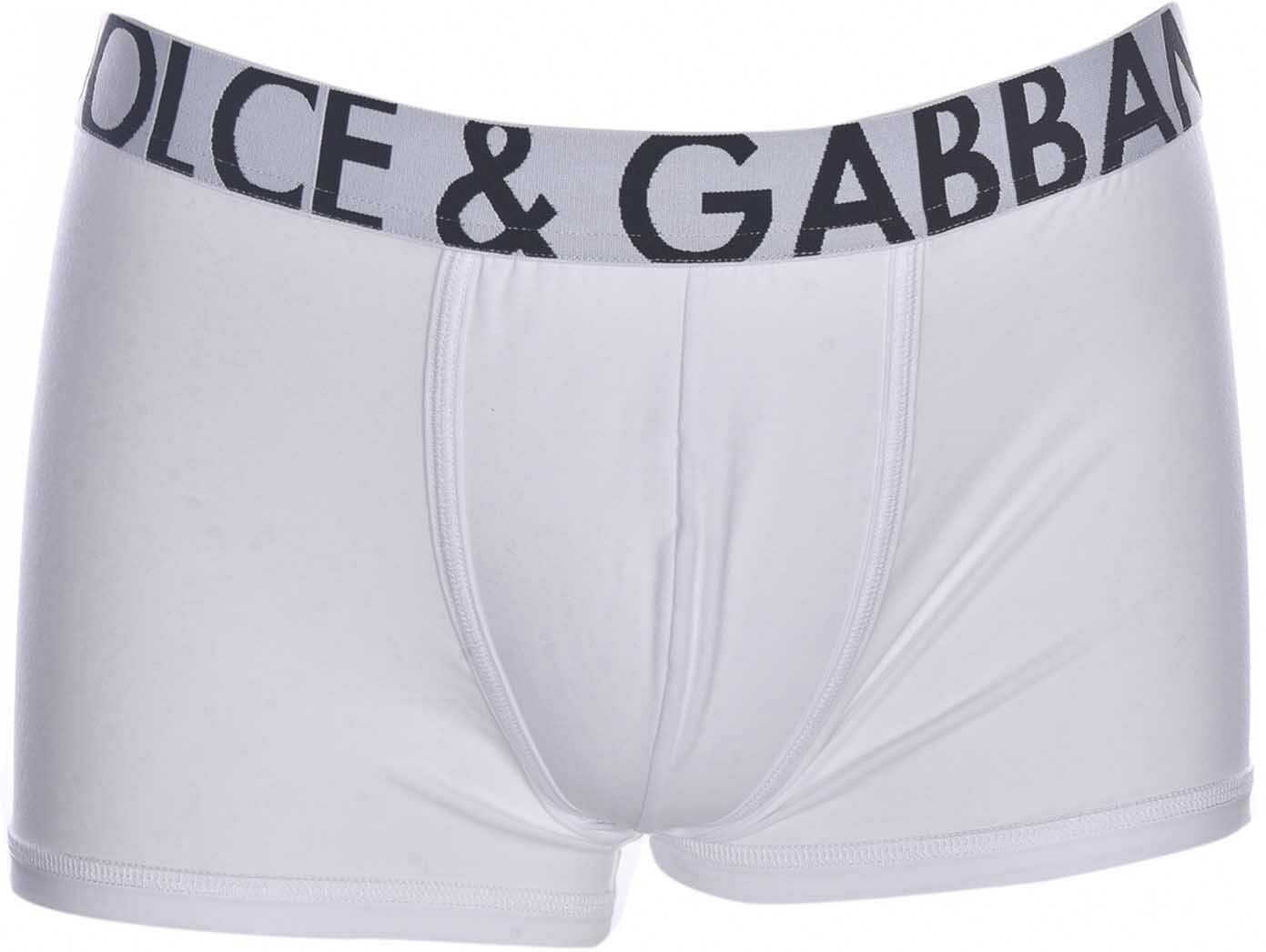 Dolce & Gabbana Logo Band Boxer Underwear In White White imagine