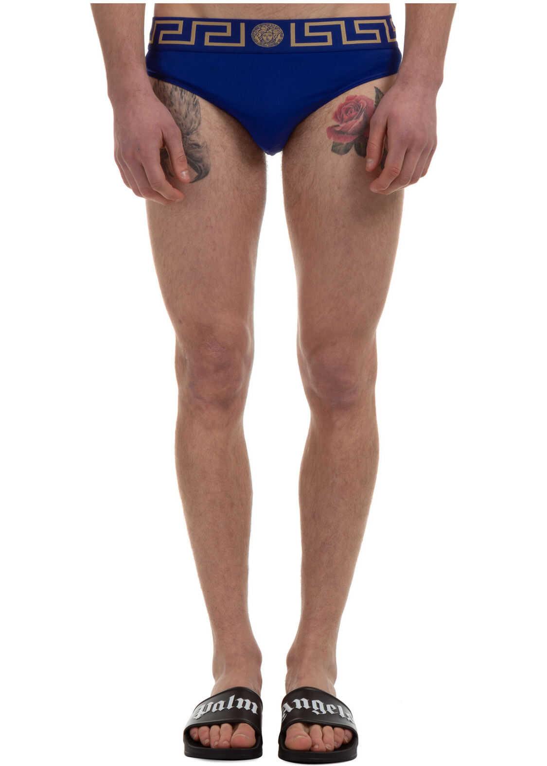 Versace Brief Swimsuit Blue imagine